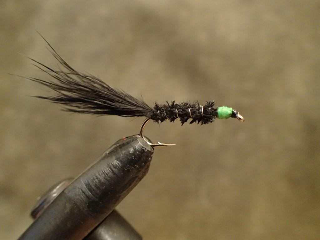 Black and green lure